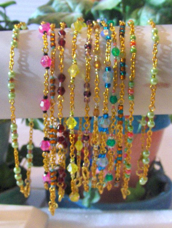 Body Jewelry New 12 Piece Lot Gold Tone Beaded  by theankletoutlet, $12.99