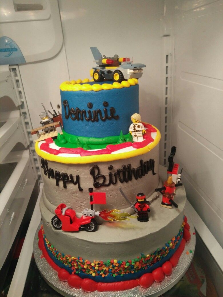 Ordered Cake With The Cars 3 Theme From Sam S Club Asked For Toy On Side Then I Bought Lego Set Built It And Added Into