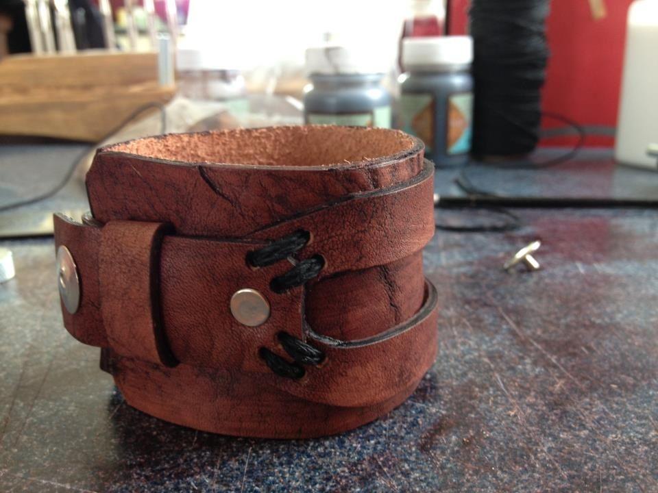First handmade Leather bracelet