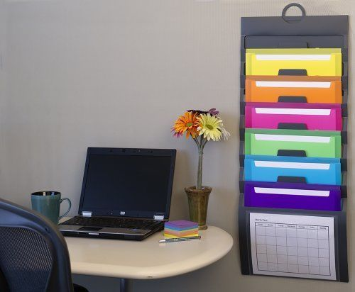 desk office file document paper. The Cascading Wall Organizer Saves Desk Space By Utilizing Space. 6 Pockets Are Removable To Make Viewing And Access Documents Easy. Office File Document Paper