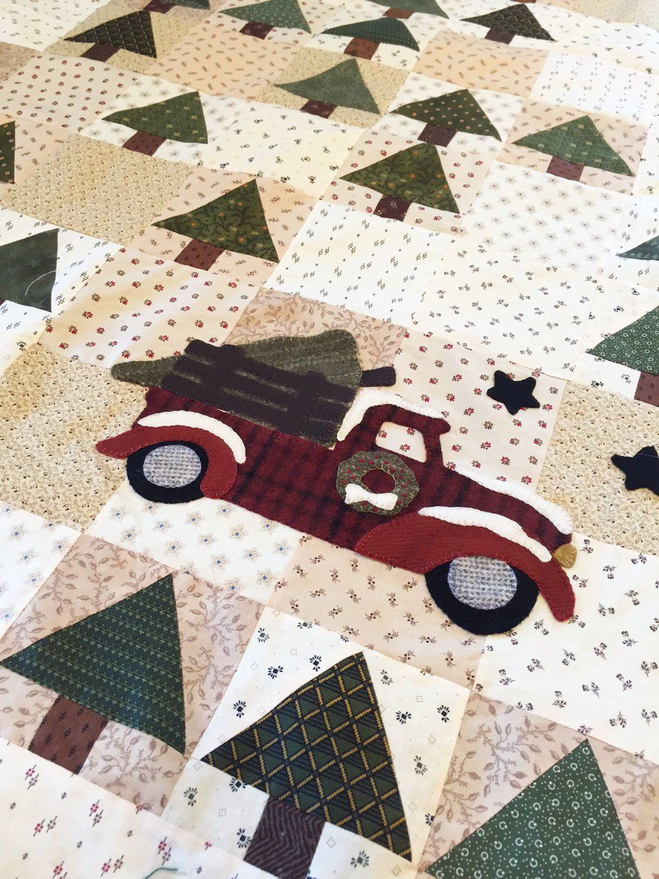 Michigan Tree Farms: a Round Robin Christmas Quilt by Carol | Just ... : farm quilt patterns - Adamdwight.com