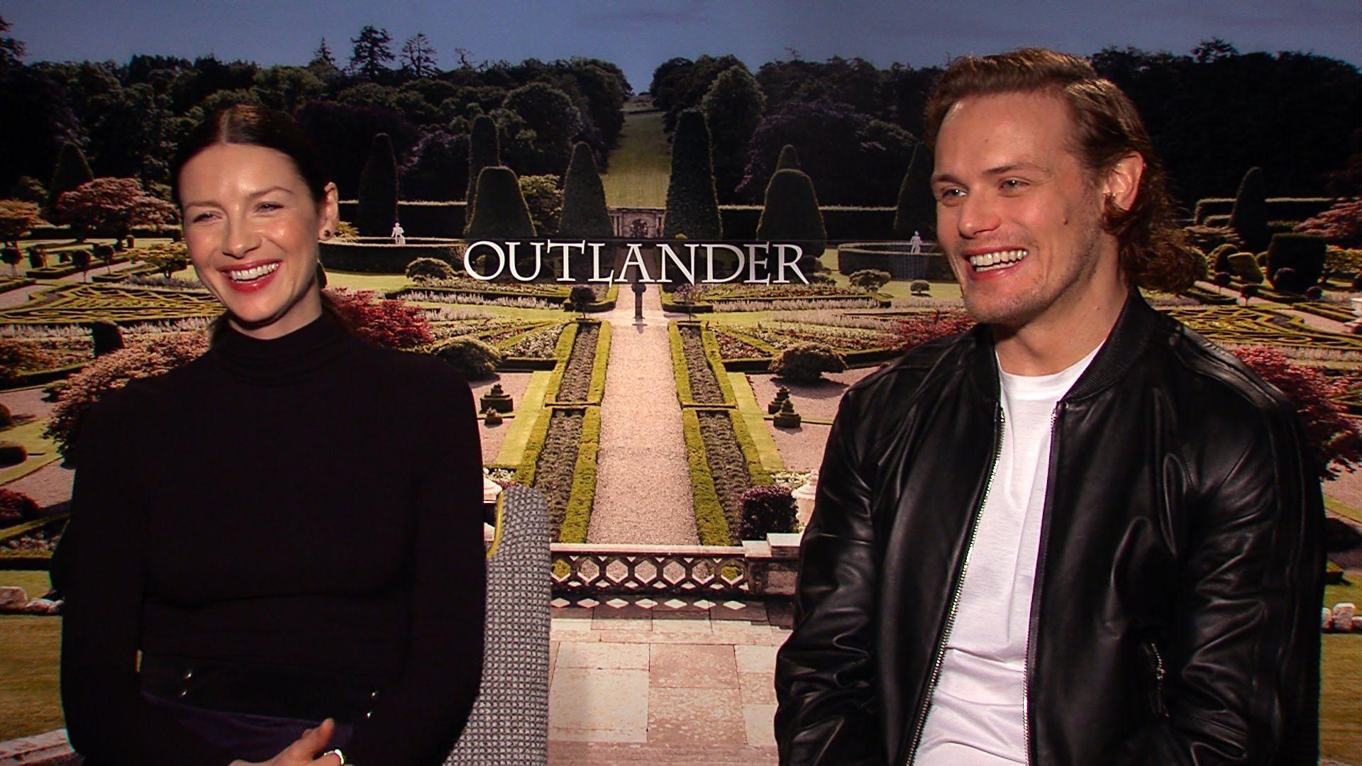"Caitriona Balfe, Sam Heughan and Tobias Menzies Chat ""Outlander"" Behind ..."