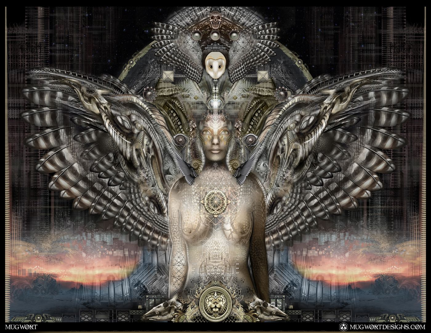 Mugwort Artemisia | SolPurpose | Spiritual Art | Visionary