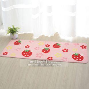 Ultra Thin Carpet Cute Strawberry Mats Doormat Anti Skid Mat Kitchen Living Room 45 120 Strawberry Decorations Living Room Kitchen Cute Strawberry