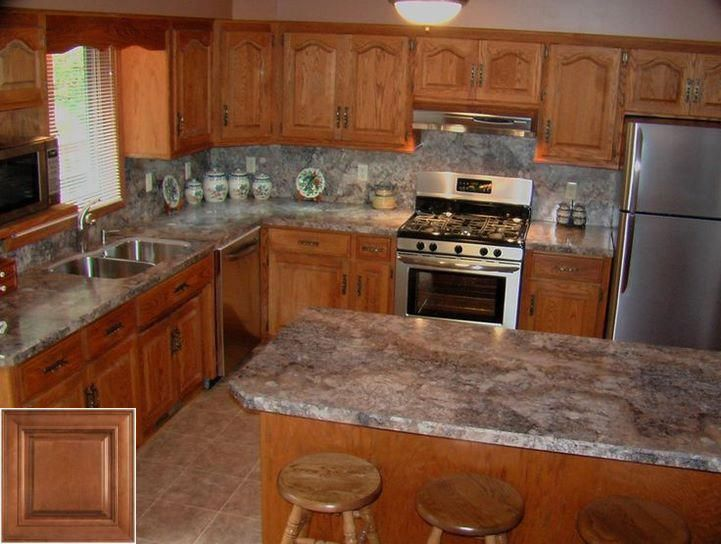 The pros and cons of - restaining oak kitchen cabinets ...