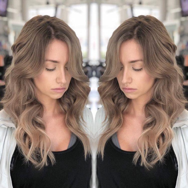 Braun blond trends haarfarben Balayage Braun