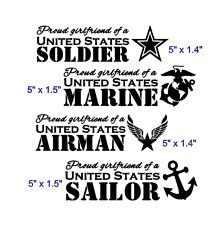 Proud Navy Wife Military United States Solider Decal