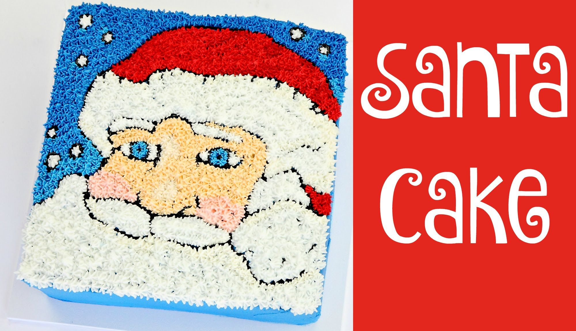 How to make a father christmas cake decoration - Make An Easy Santa Cake With Buttercream
