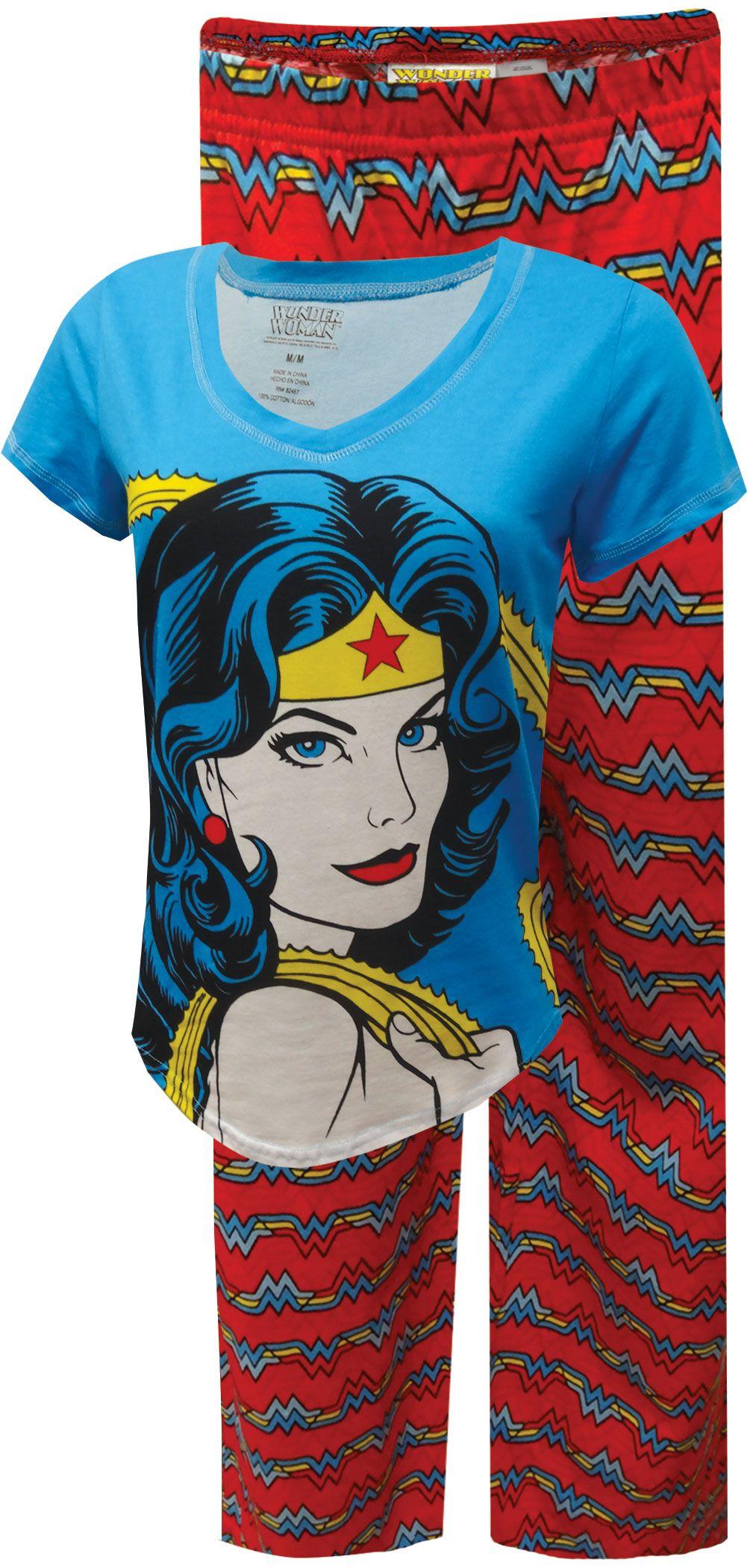 Dc Comics Wonder Woman Plus Size Cotton Pajama Superman Wonder Woman Wonder Woman Wonder Woman Party