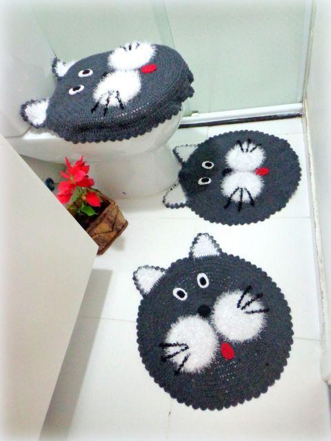 Jogo gato | baños decoración | Pinterest | Juegos de baño, Juegos de ...