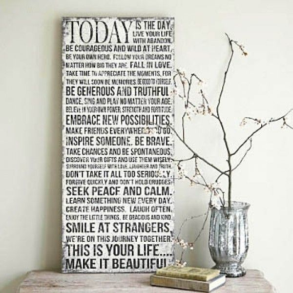 'This is your life, make it beautiful' Wooden sign £42.95 #inspirational #quote #sign #gift #home