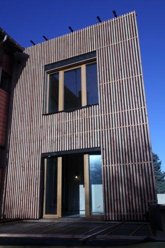 Facade bardage bois maisonville bardage bardage bois bardage et bois - Facade maison en bois ...