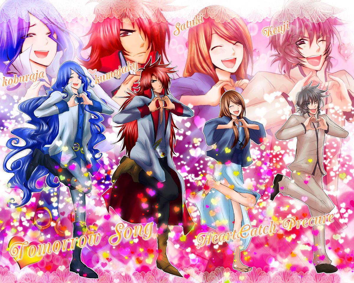 Cobraja Kumojacky Satuki And Kenji Pretty Cure Anime Pretty