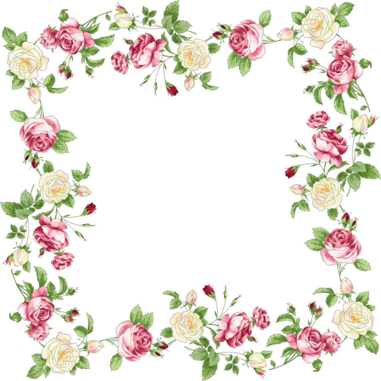 pink flower frames and...