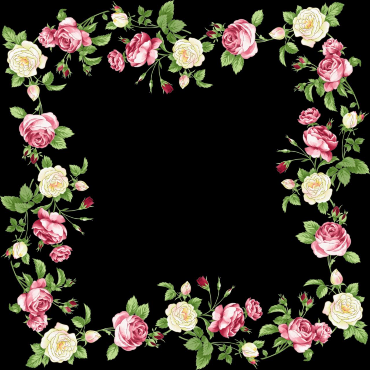 pretty pink border floral - photo #33