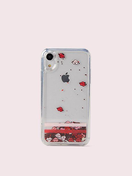 1cfc1fc8c Kate Spade Lips Liquid Glitter Iphone Xr Case, Clear in 2019 ...