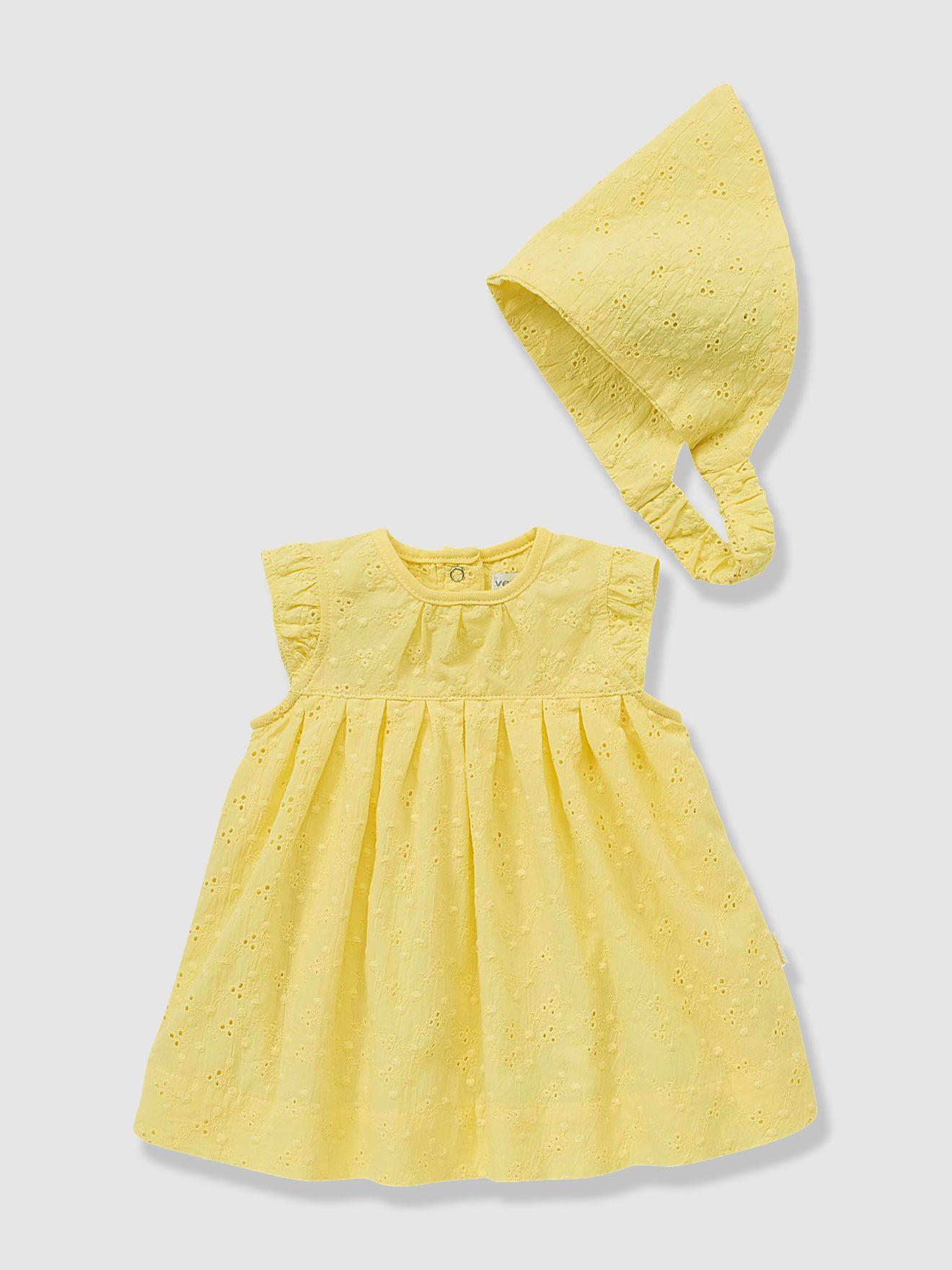 71847a8aab4a7 Ensemble bébé robe et fichu
