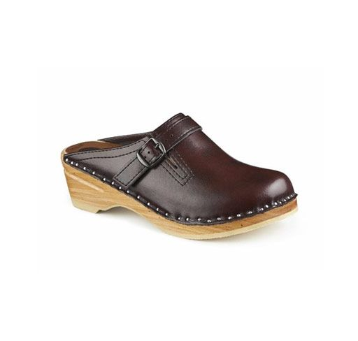 d0494b0ed90b Adjustable Strap with alder wood bottom and non-slip sole. Another great  clog from Troentorp. The functional buckled strap adjusts to accommodate  wide feet.