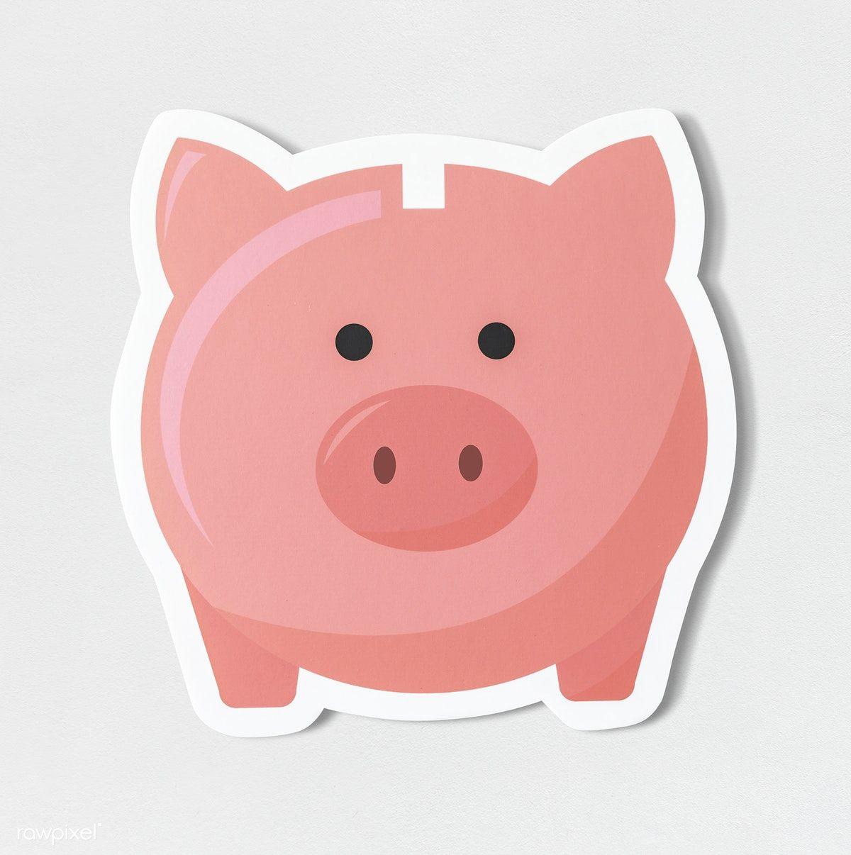 Download Premium Psd Of Pink Piggy Bank Savings Icon 402432 Pink Piggy Bank Savings Bank Piggy Bank