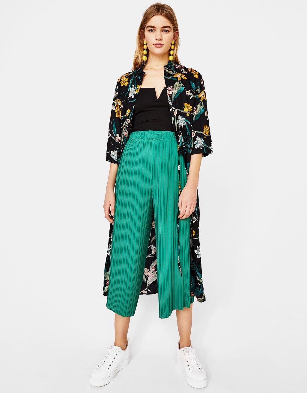 0bb101ed3c9ba5 Jupe-culotte plissée en 2019 | Style | Jupe culotte, Culotte et ...