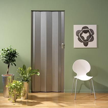 Grosfillex vouwdeur \'Spacy\' PVC aluminium 205 x 84 cm