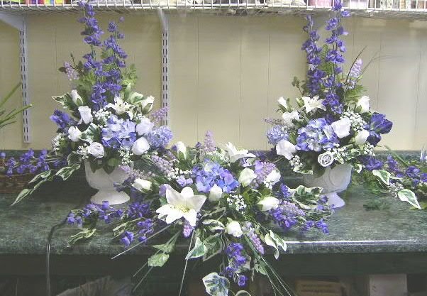 Purple White Artificial Flowers For Wedding Beautiful Silk Flower