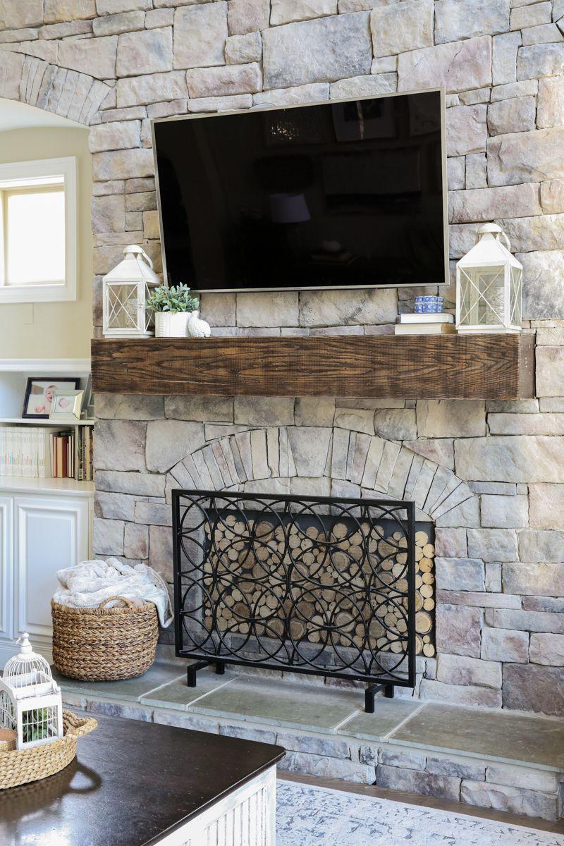 Diy fireplace mantel makeover bower power fireplace