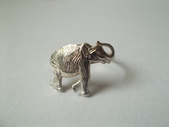 Silver Elephant Ring Sterling Silver Ring Hammered by fifthheaven, $20.50