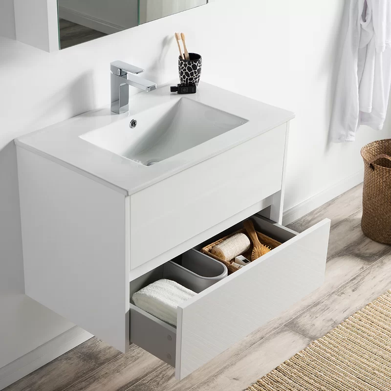 Oquendo 30 Wall Mounted Single Bathroom Vanity Set With Mirror Single Bathroom Vanity Bathroom Vanity Vanity