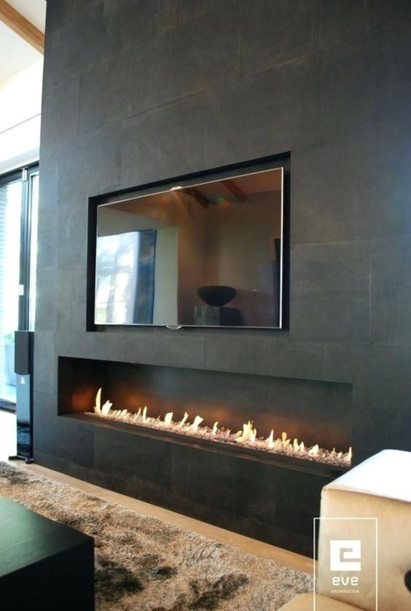 58 Modern Fireplaces With Tv Ideas That Will Make You Enjoy