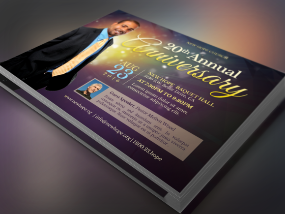 Starlight Pastor Anniversary Flyer  Pastor Anniversary Print