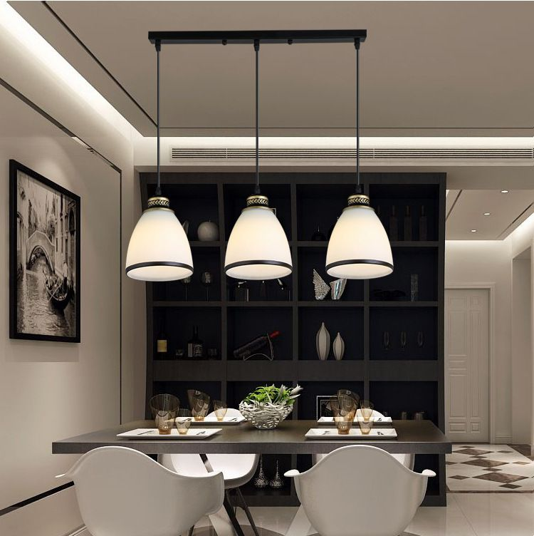 Lukloy Modern Minimalist Set Of 3 Kitchen Island Dining Room Glass