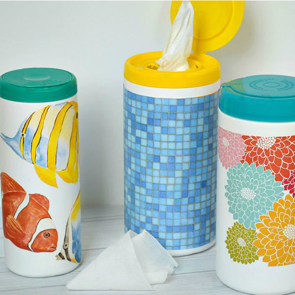 Diy Decorated Clorox Wipes Container in 2020 Wipes