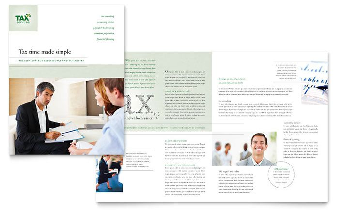 Accounting And Tax Services Brochure Template Design By Stocklayouts