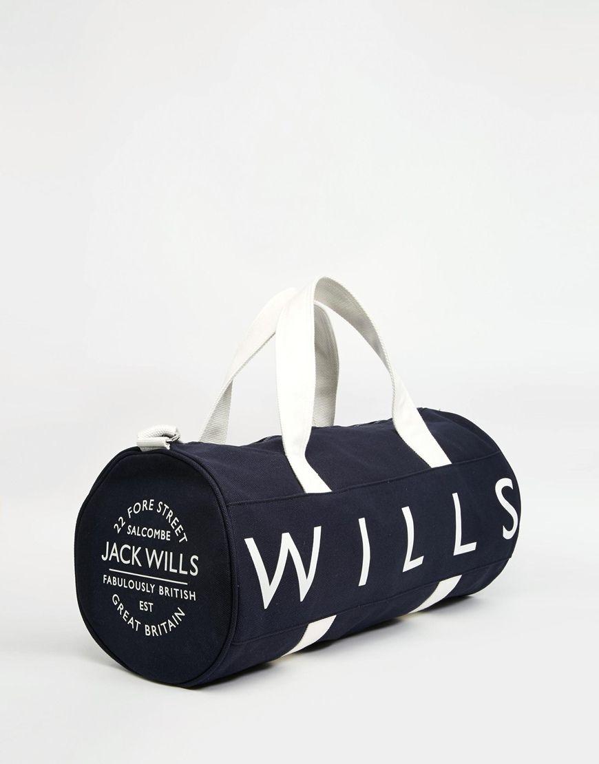 Image 2 of Jack Wills Ledbrook Barrel Bag 584e6ddb080f4