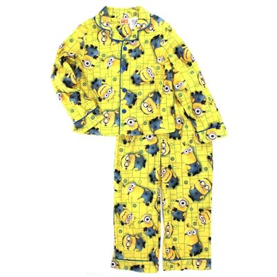 Blue//Yellow Despicable Me Boys Bello 4-Piece Cotton Pajama Set