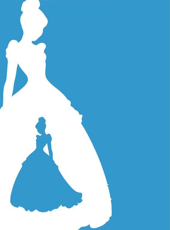 Cinderella Silhouette Vinyl Sticker / Decal by ...