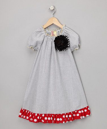 Take a look at this Gray Stripe Seersucker Dress - Girls by Perfect for Play: Kids' Apparel on #zulily today!