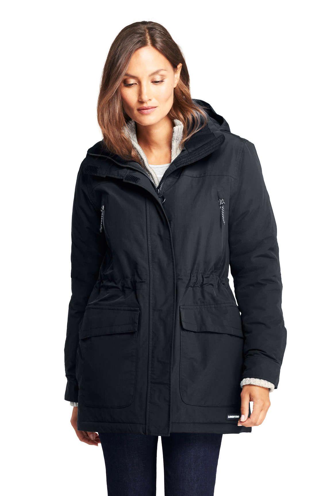 Women S Petite Squall Insulated Winter Parka From Lands End Winter Parka Womens Black Coat Coats Jackets Women [ 1728 x 1152 Pixel ]