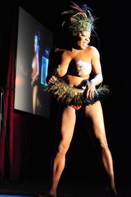 Ebony In High Heels