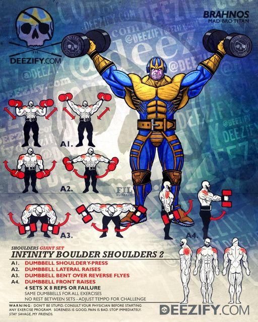 shoulder workout: infinity boulders with thanos