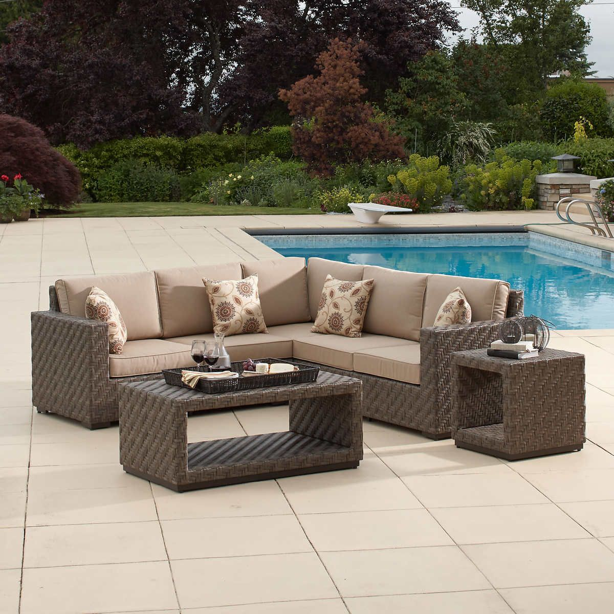 wicker garden cushion circle diy walmart beautify open sofa size sofas patio to dining covers of set outdoor furniture for your cheap dimensions sectional full design area