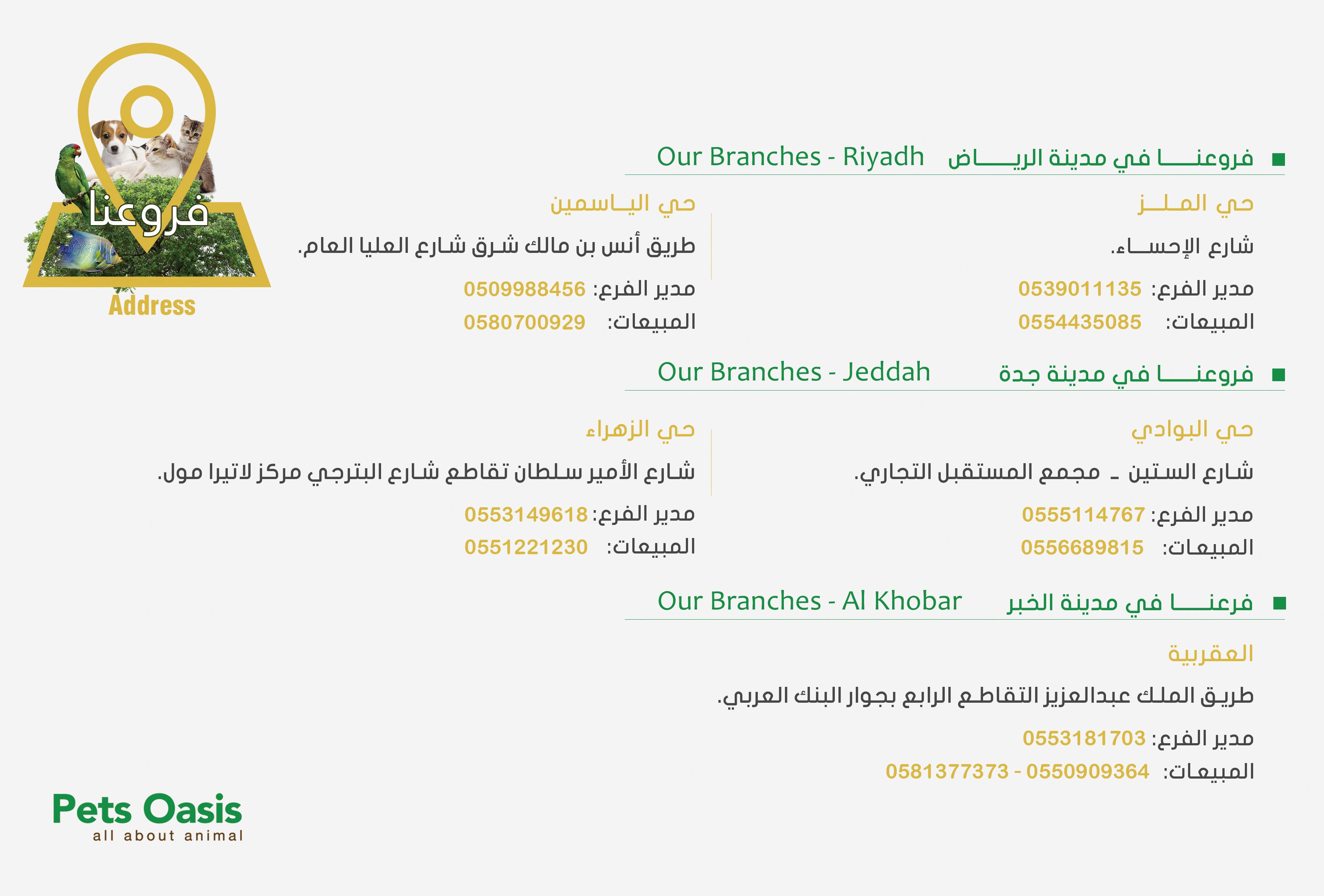 Pin By Pet Oasis واحة الحيوان On Company Profile Company Profile Jeddah Riyadh