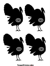 graphic about Turkey Target Printable named Printable Chicken Jake Turkey Taking pictures Concentration Airsoft