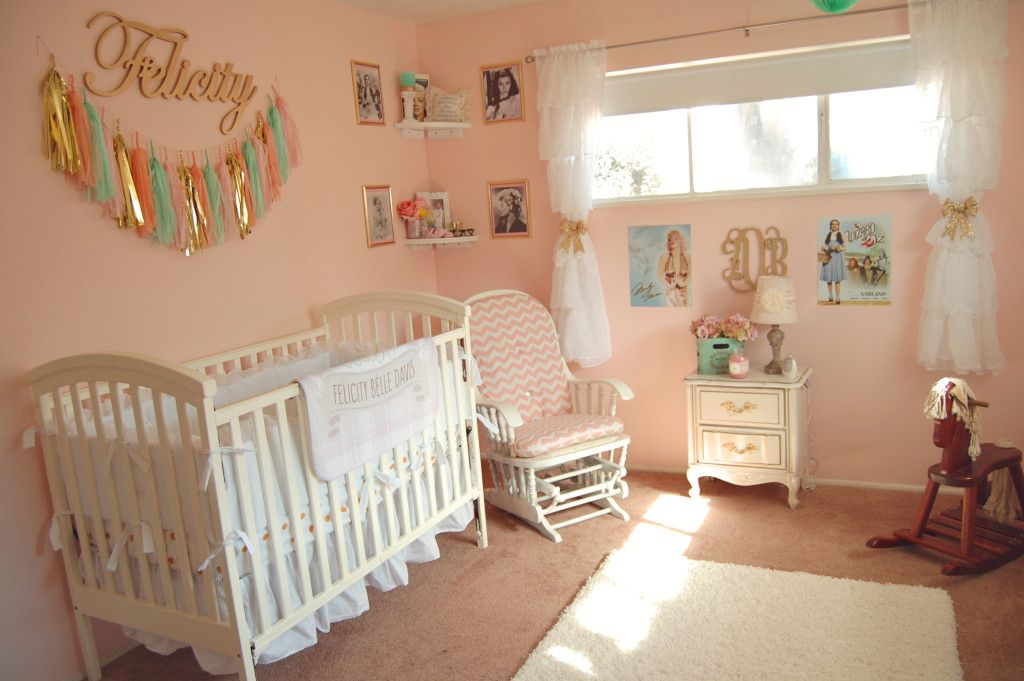 Pink Vintage Hollywood Nursery So Pretty For A Little
