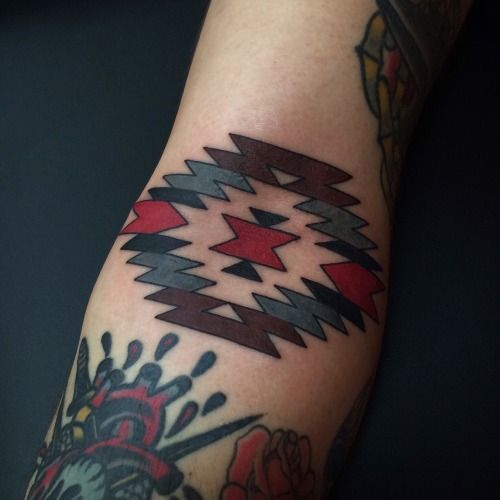 navajo inner elbow tattoo made for chad tattoo pinterest tatouages. Black Bedroom Furniture Sets. Home Design Ideas