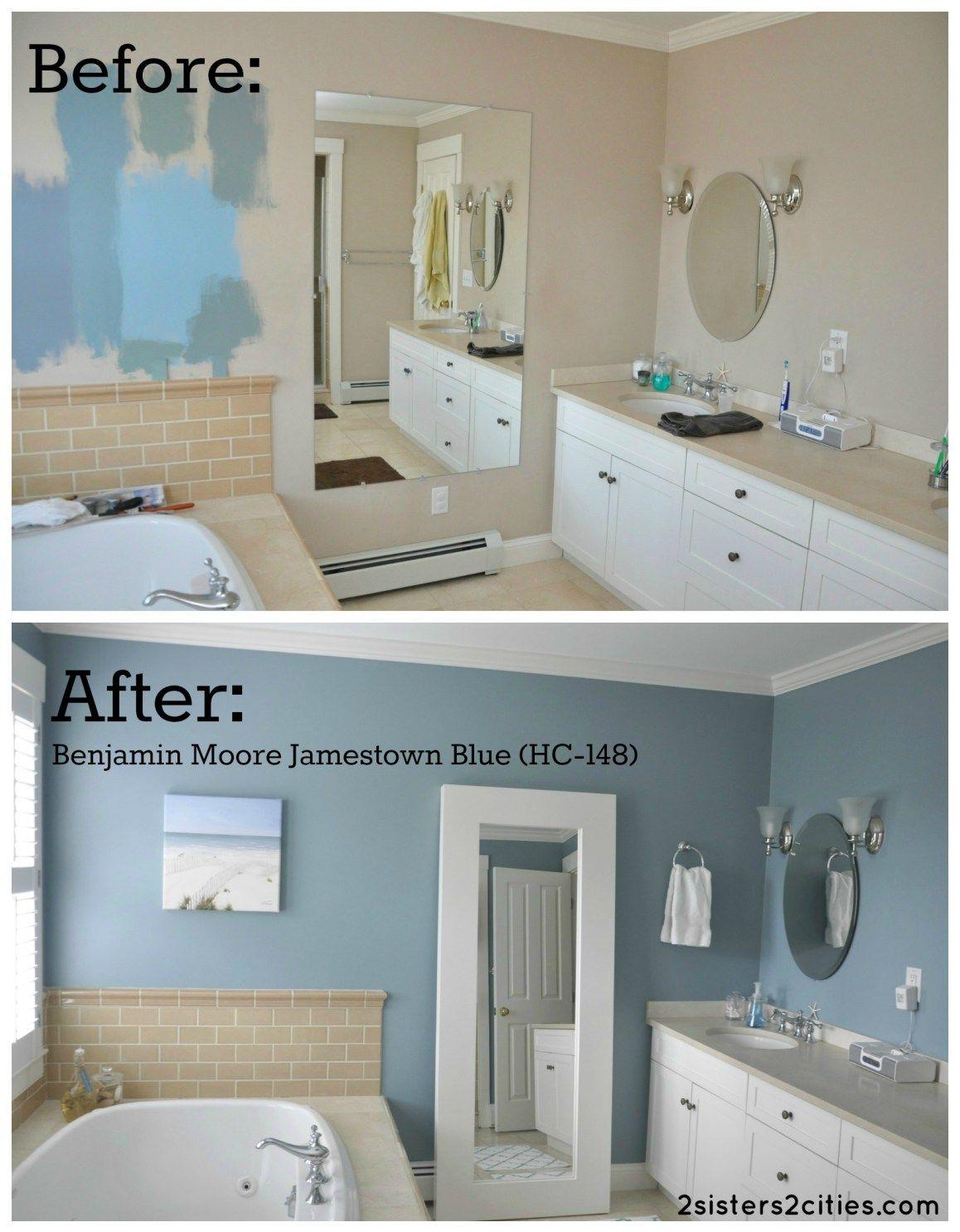 Master Bathroom Paint Color Reveal Blue
