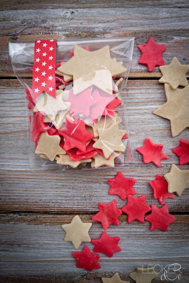 Sternchen-Nudeln - selbstgemachte Pasta #weihnachtsgeschenkeeltern