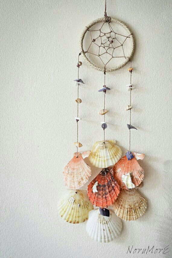 Pin by cherifa hashem on shells pinterest shell dream catchers do it yourself ideas and projects 50 magical diy ideas with sea shells solutioingenieria Image collections