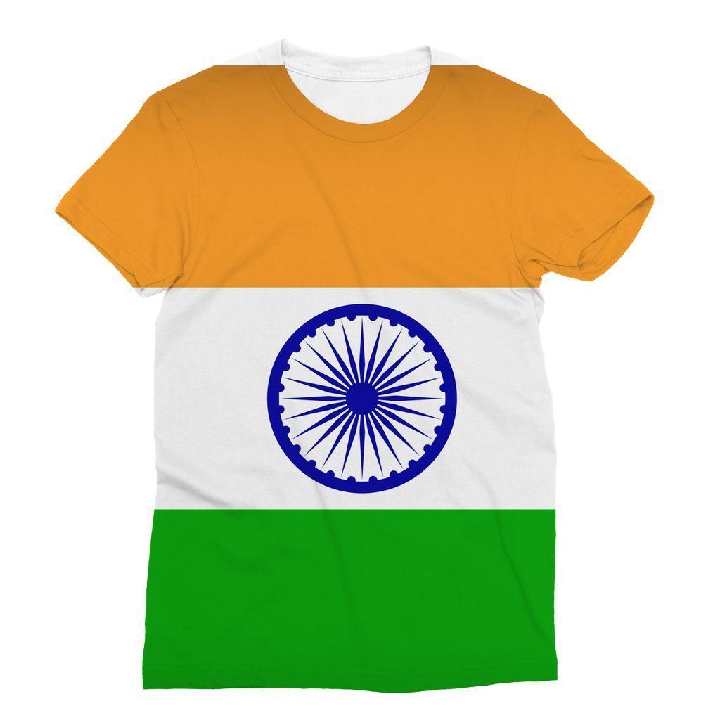 90b57b8eb Basic India Flag Sublimation T-Shirt in 2019 | raju | Indian flag ...